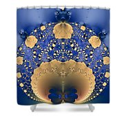Fractal Doily Shower Curtain