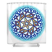 Fractal Escheresque Winter Mandala 1 Shower Curtain