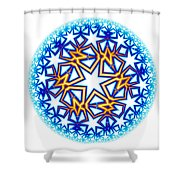 Fractal Escheresque Winter Mandala 2 Shower Curtain