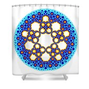 Fractal Escher Winter Mandala 3 Shower Curtain