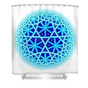 Fractal Escheresque Winter Mandala 4 Shower Curtain