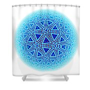 Fractal Escher Winter Mandala 5 Shower Curtain