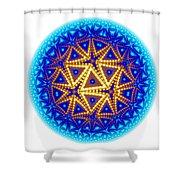 Fractal Escheresque Winter Mandala 6 Shower Curtain