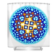 Fractal Escheresque Winter Mandala 9 Shower Curtain