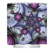 Fractal Fantasy Butterflies Shower Curtain