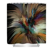 Fractal Feathers Shower Curtain