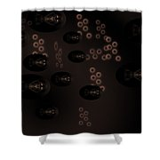 Fractal Fish Swimming In Murkey Water - Featured In Comfortable Art Group Shower Curtain