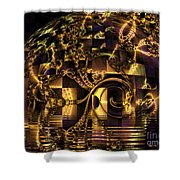 Fractal Flooding Shower Curtain
