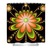 Fractal Floral Decorations Shower Curtain