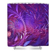 Fractal Flower Fields Shower Curtain