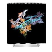 Fractal Flower Mobile Shower Curtain
