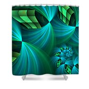 Fractal Gently Worn Shower Curtain