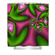 Fractal Happy Jewels Shower Curtain