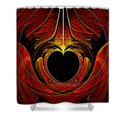 Fractal - Heart - Victorian Love Shower Curtain
