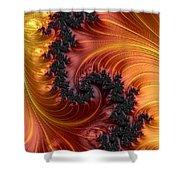 Fractal Heat - A Fractal Abstract Shower Curtain