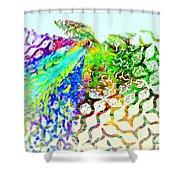 Fractal - Hummingbird Shower Curtain