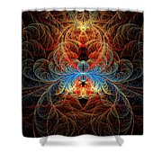 Fractal - Insect - Black Widow Shower Curtain