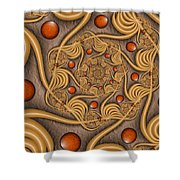 Fractal Jewelry Shower Curtain