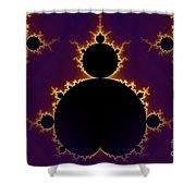 Fractal Mandelbrot Seamless Shower Curtain