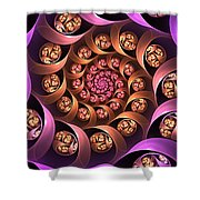Fractal Multicolored Depth Shower Curtain