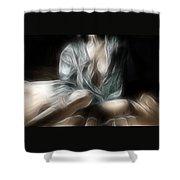 Fractal Nude 8637 Shower Curtain