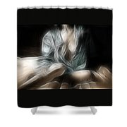 Fractal Nude 8637 Shower Curtain