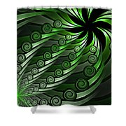 Fractal On The Way Shower Curtain
