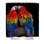 Fractal Parrots Shower Curtain