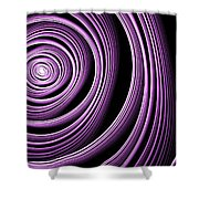 Fractal Purple Swirl Shower Curtain