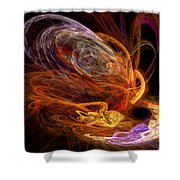 Fractal - Rise Of The Phoenix Shower Curtain