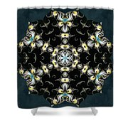 Fractal Seahorses Shower Curtain
