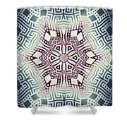 Fractal Snowflake Pattern 1 Shower Curtain