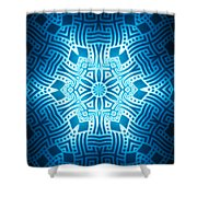 Fractal Snowflake Pattern 2 Shower Curtain