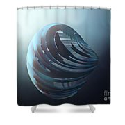 Fractal Sphere  Shower Curtain