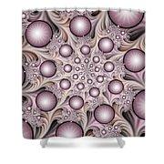 Fractal Stars Shower Curtain