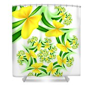 Fractal Summer Desire Shower Curtain