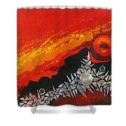 Fractal Sunrise Shower Curtain