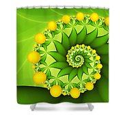 Fractal Sweet Yellow Fruits Shower Curtain