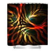 Fractal Swirl Shower Curtain