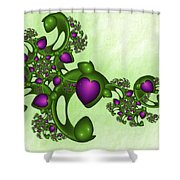 Fractal Tears Of Joy Shower Curtain