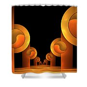 Fractal The Hall Shower Curtain