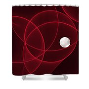 Fractal The Lonesome Pearl 2 Shower Curtain