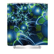 Fractal Time Travel Shower Curtain