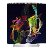 Fractal - Tropical Fish Shower Curtain