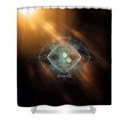 Fractal Ufo Shower Curtain