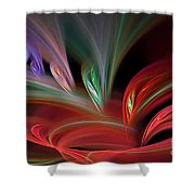 Fractal Vortex Swirl Shower Curtain