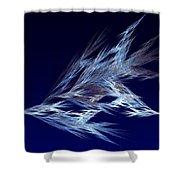 Fractals - Birds In Flight Shower Curtain