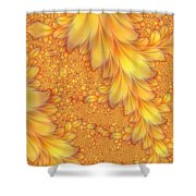 Fractals Of A Feather Shower Curtain