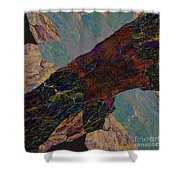 Fracture Section Il Shower Curtain