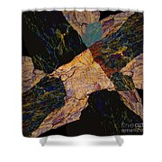 Fracture Section Viii Shower Curtain